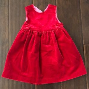 Baby GAP Baby Girls Red Velvet Party Dress